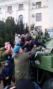 С куратором кадетского класса на параде военной техники
