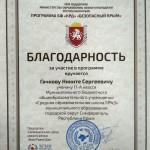Гачков Никита, 11-А класс